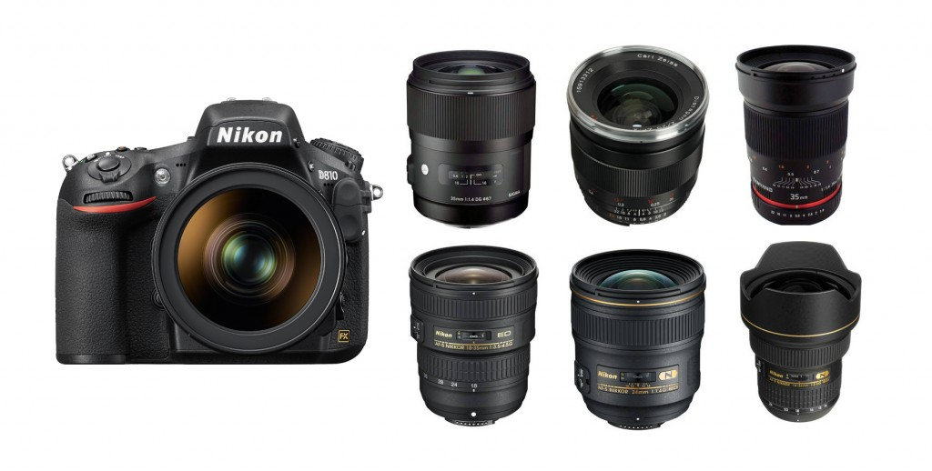best wide-angle lenses for nikon D810