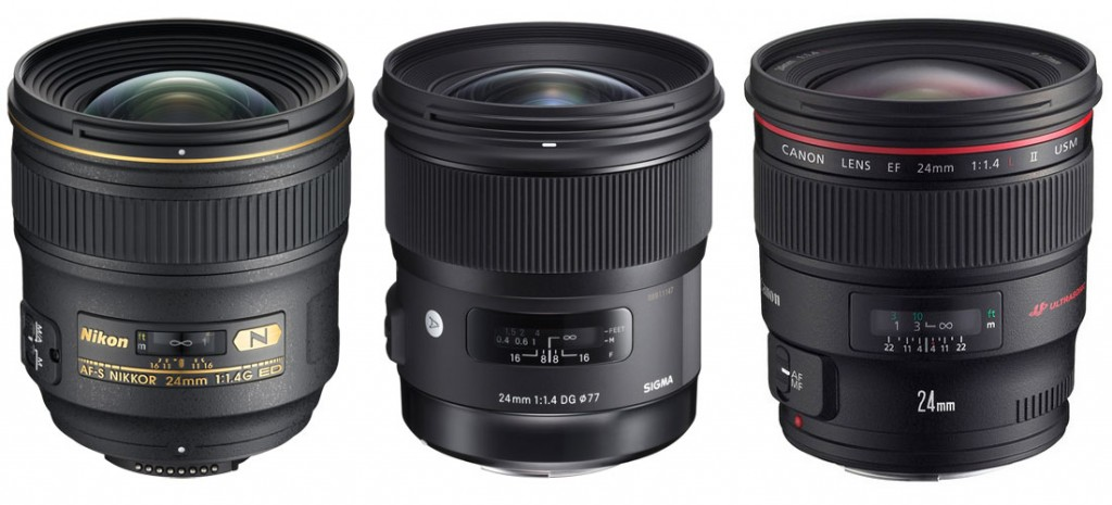 nikon24mm-sigma24mm-canon24mm-f-1-4-lenses