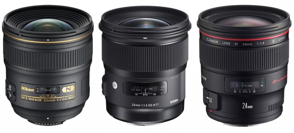 nikon24mm-sigma24mm-canon24mm-f-1-4-lenses