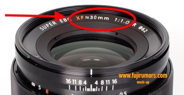 Fujifilm XF 30mm F1.0 lens