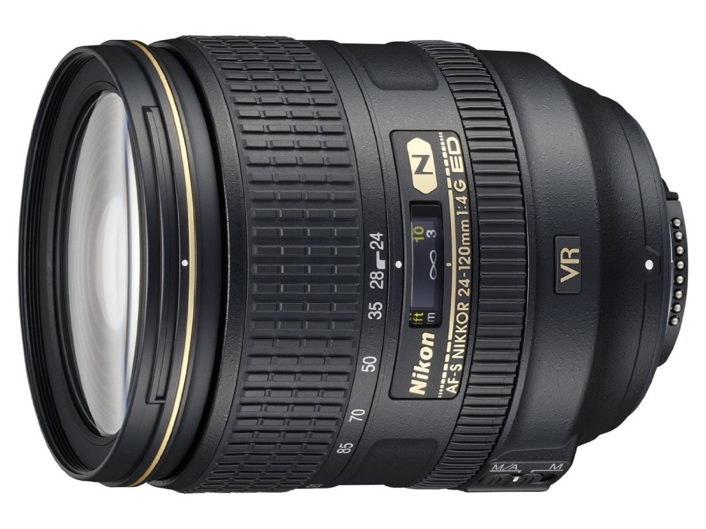 Nikon AF-S Nikkor 24-120mm F4G ED VR lens
