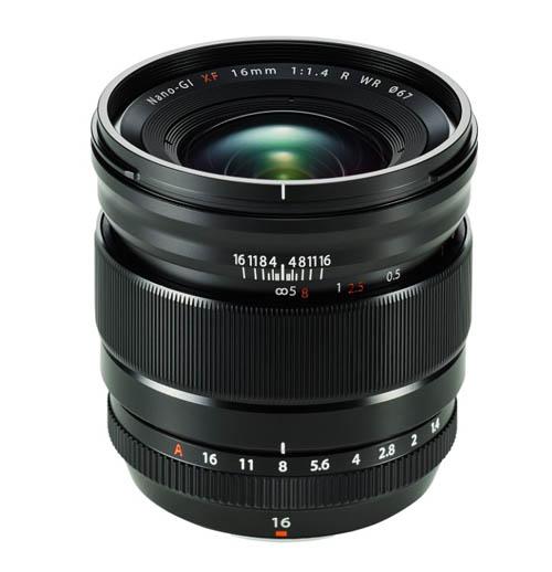 fujifilm XF 16mmf1.4 R WR lens