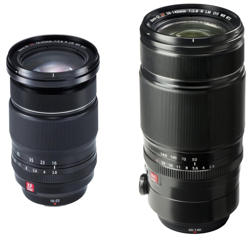Fujifilm-XF-16-55mm-&-50-140mm-F2.8-lenses