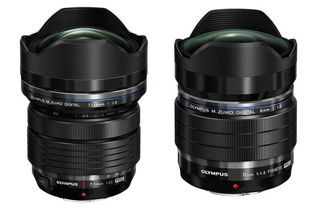 Olympus-M-7-14mm-F2.8-and-8mm-F1.8-lens