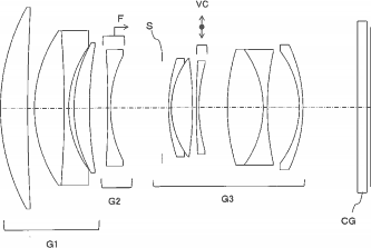 Patent of Tamron 85mm lens