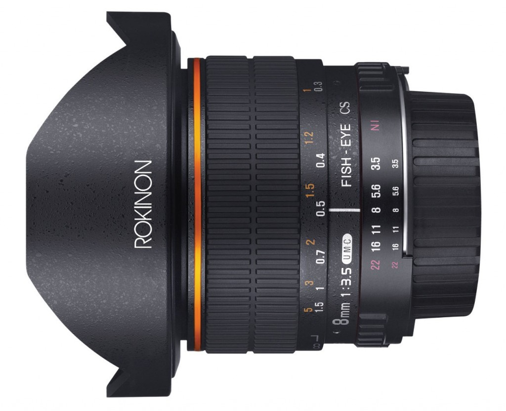 Rokinon 8mm f3.5 fisheye lens