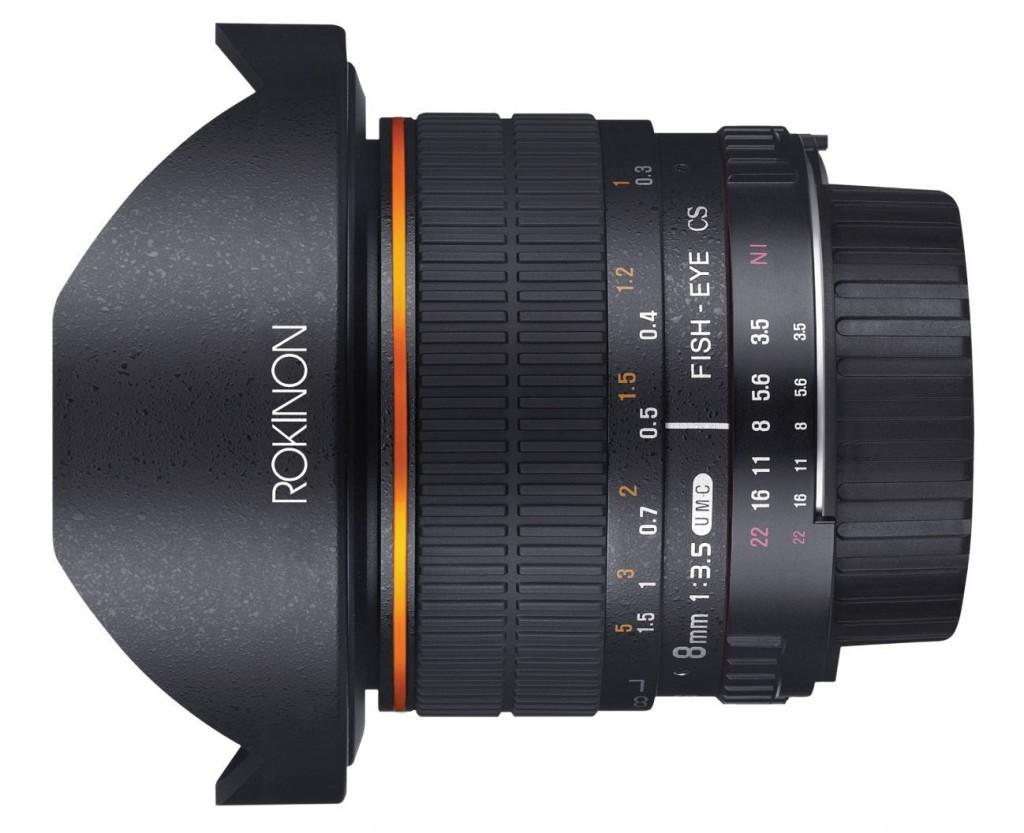 Rokinon 8mm f3.5 fisheye lens