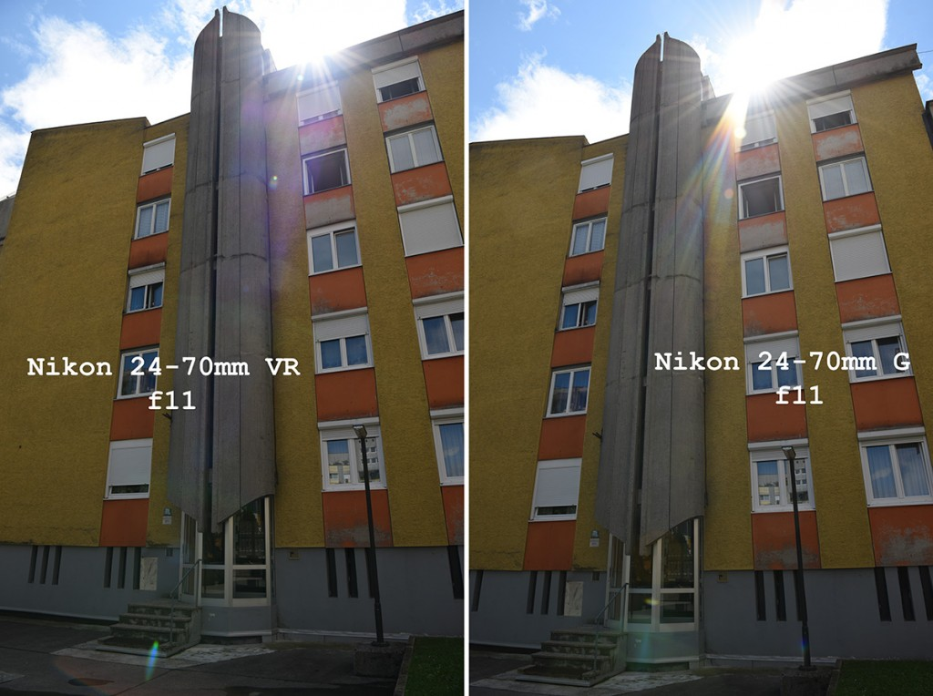 Nikon 24-70mm F2.8E VR lens vs old sample images