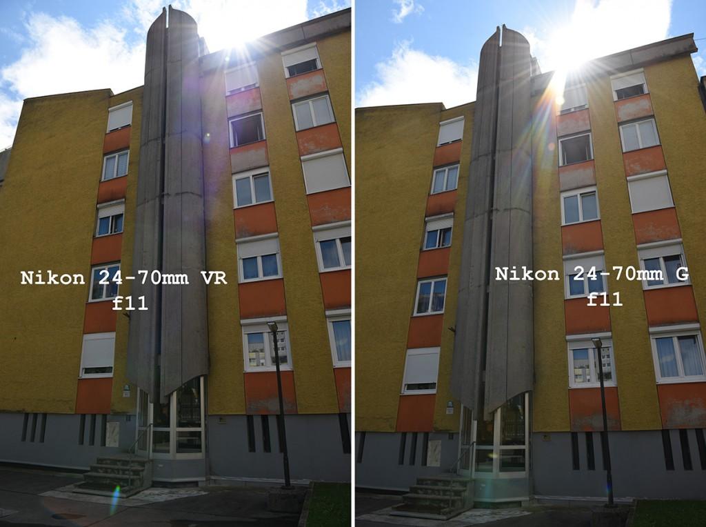 Nikon 24-70mm F2.8E VR lens vs old sample images