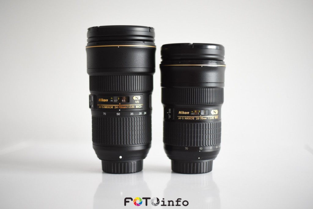 Nikon 24-70mm F2.8E VR lens vs old