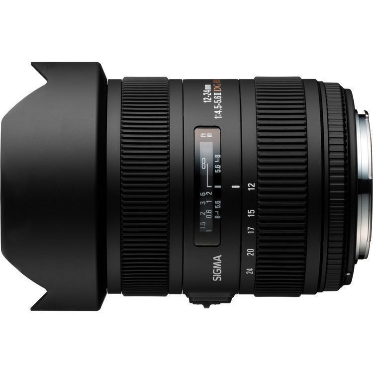 Sigma 12-24mm F4.5-5.6 DG HSM II lens