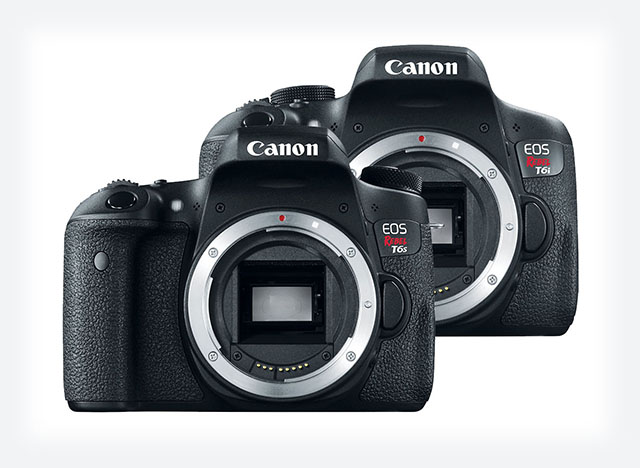 Canon Eos T6i and T6s