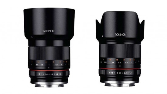 Rokinon-50mm-f1.2-and-21mm-f1.4-mirrorless-lenses