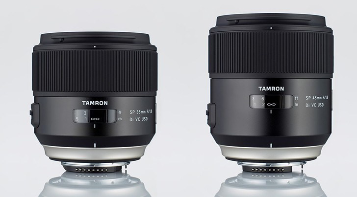 tamron SP 35 and 45mm F1.8 lens