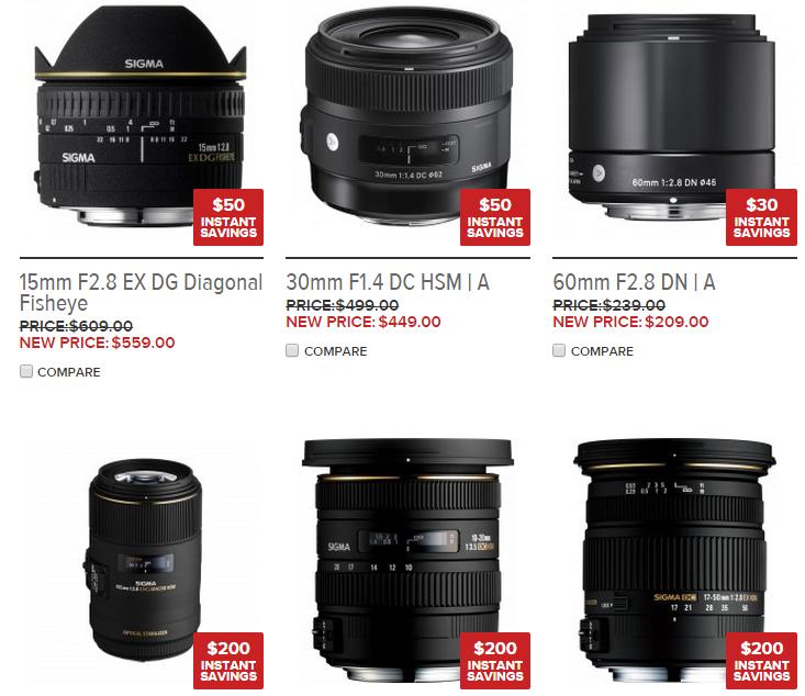 Sigma lens deals