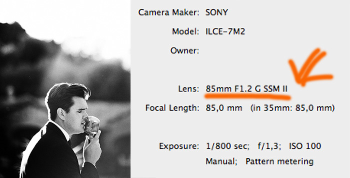 Sony 85mm_12_G_SSM_II lens