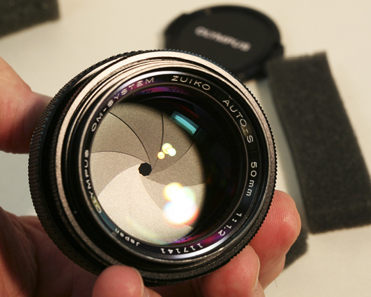Olympus OM-System 50mm F1.2 lens