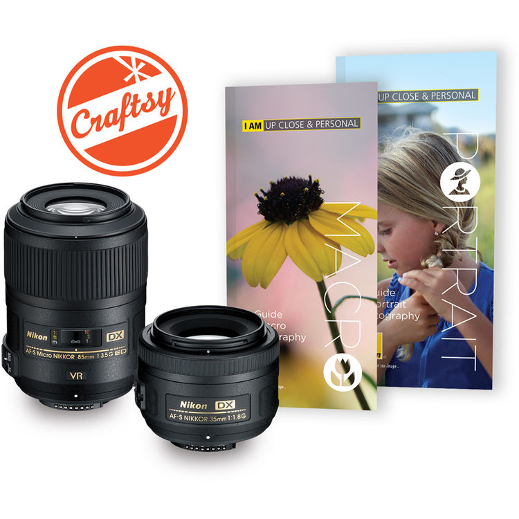Nikon Macro 85mm f3.5 and 35mm f1.8 two lens kit deal