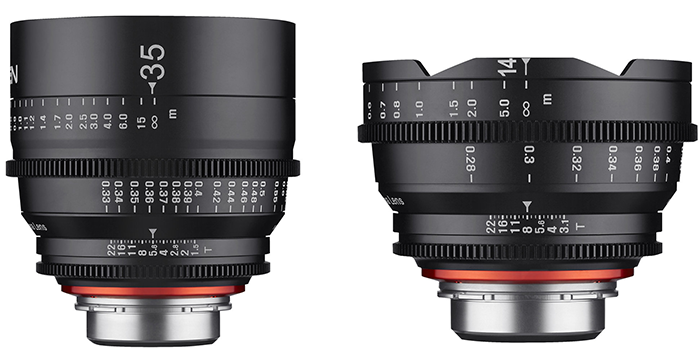 Samyang Xeen 14 and 35mm lenses