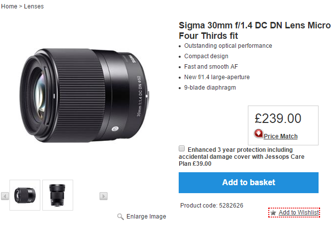Sigma 30mm F1.4 DC DN lens pre-order in Europe