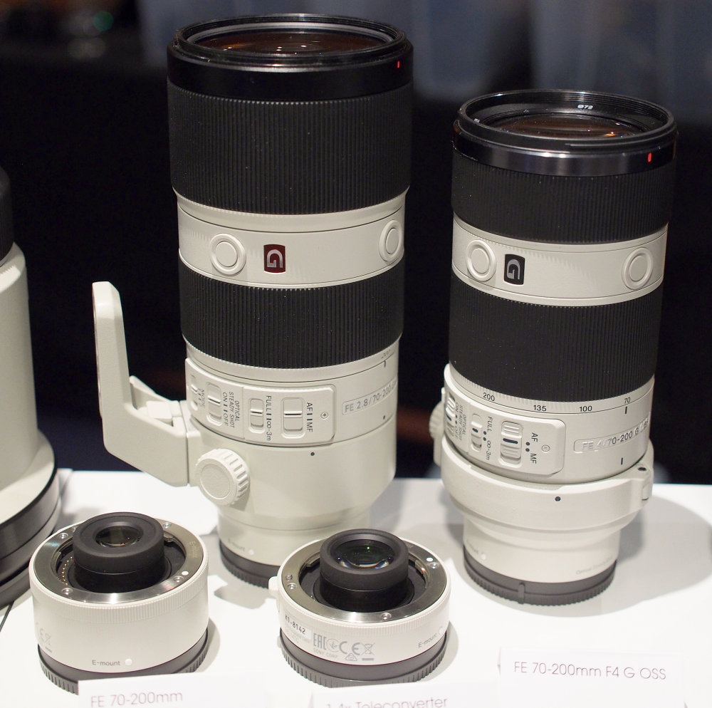 Sony-FE-70-200mm-f2-8-GM-Lens Vs. F4.0