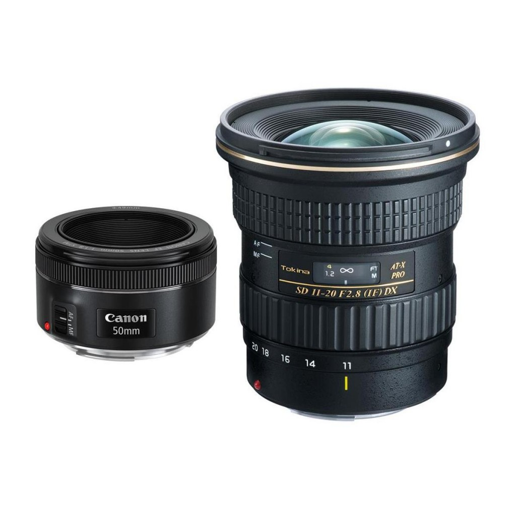 Tokina 11-20 dx and EF 50mm Stm lens deal