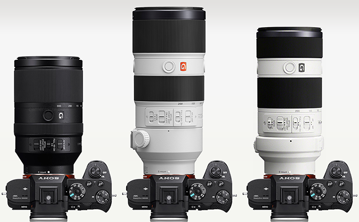 Sony FE 70-300mm Vs. 70-200mm size comparison