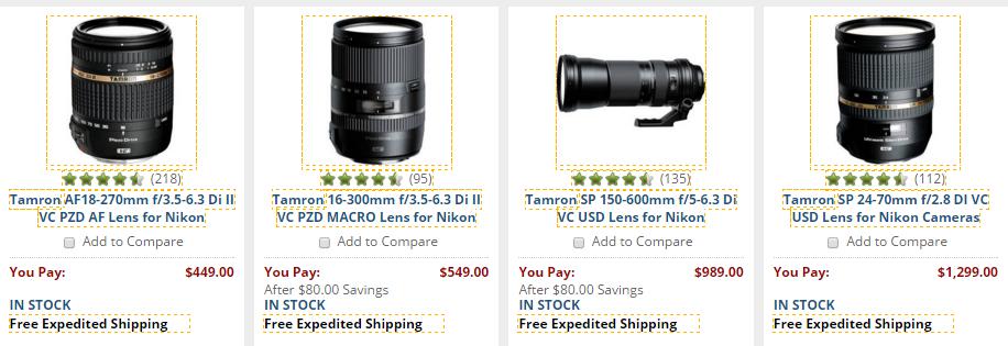 Tamron Lens deals