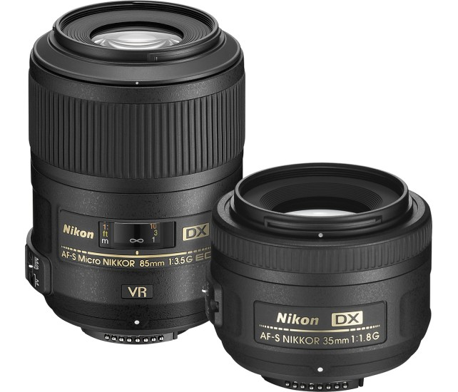 Nikon 35mm F1.8 and 85mm F3.5 lens