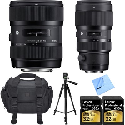Sigma 18-35 and 50-100mm lens deals