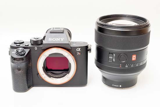 Sony FE 85mm F1.4 GM lens aside Sony a7R II