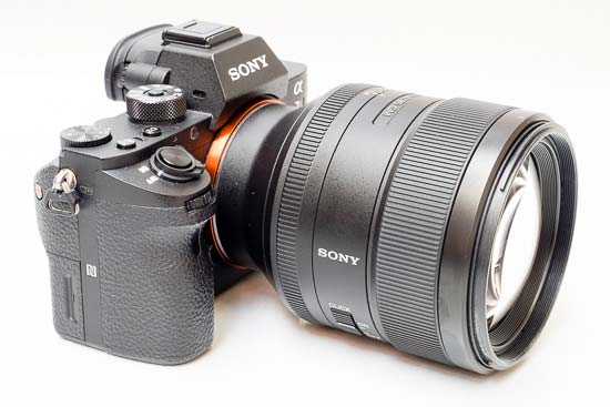 Sony FE 85mm F1.4 GM lens mounted on Sony a7R II