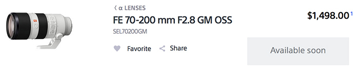 Sony70-200mmGM