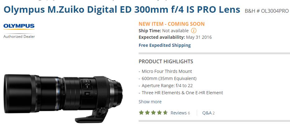 Olympus M Zuiko Digital ED 300mm f4 0 PRO Lens to Start