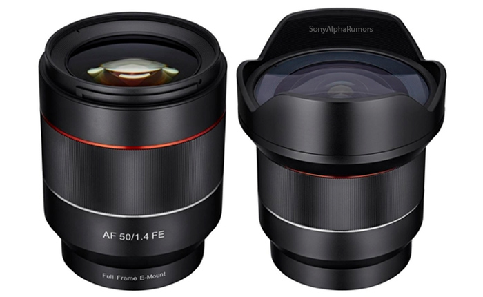 Samyang 50mm and 14mm lenses for Sony FE
