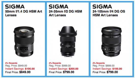 Sigma lenses deal
