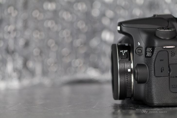 Canon EF-S 24mm F2.8 STM mounted on 70D