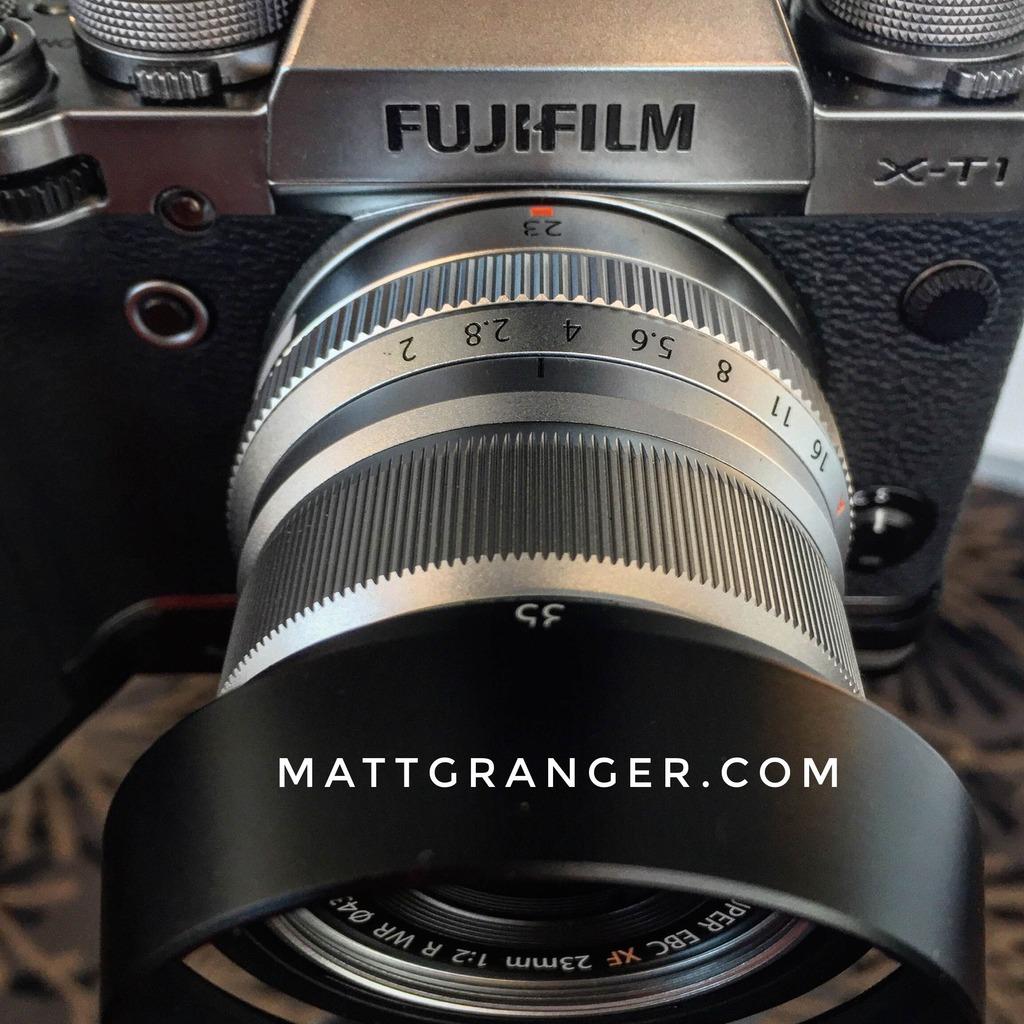 Fujifilm XF 23mm F2 lens