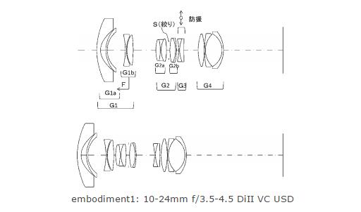 Tamron 10-24mm F3.5-4.5 VC lens patent