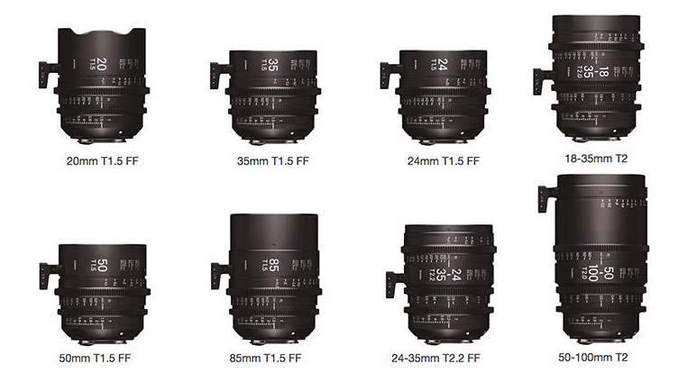 8 Sigma cinema lenses