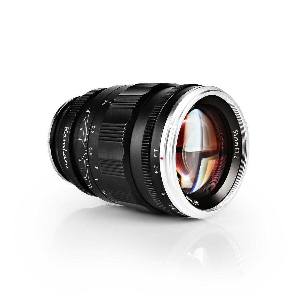 Kamlan 55mm f 1.2 FE lens