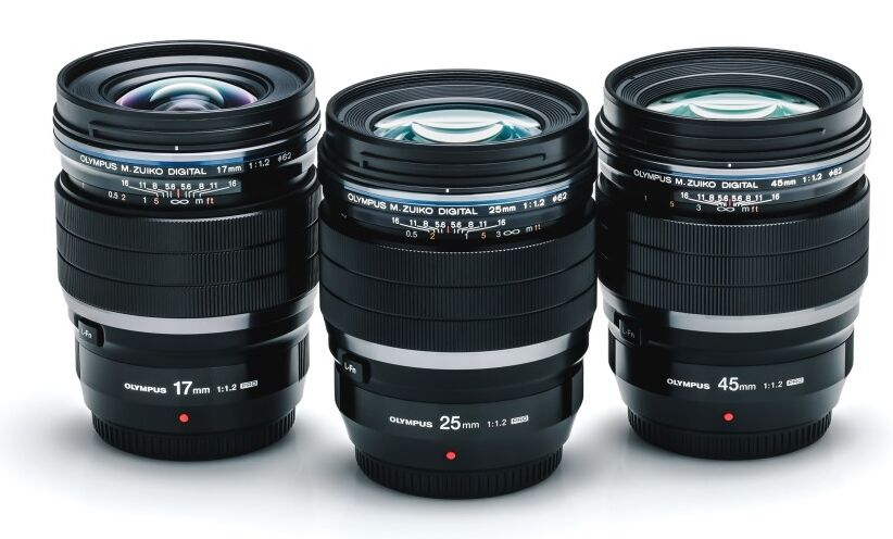 Olympus F1.2 lenses