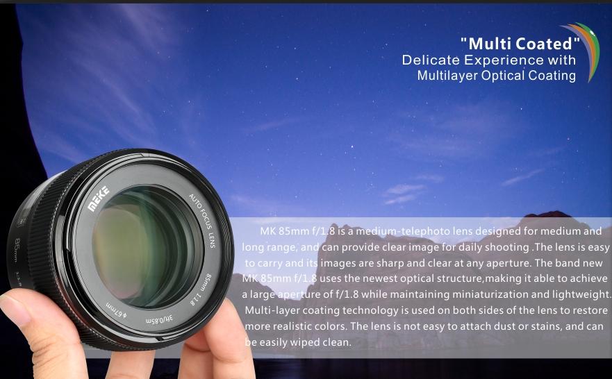 Meike 85mm F1.8 lens 2