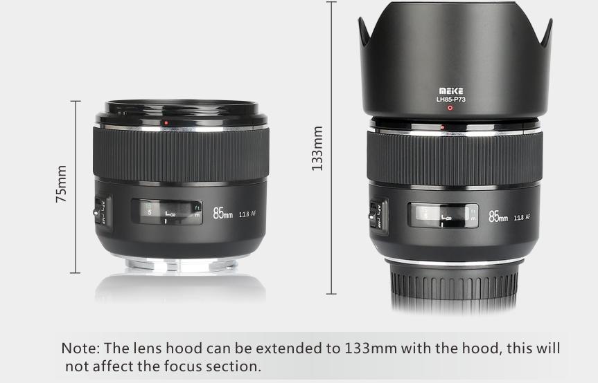 Meike 85mm F1.8 lens 3