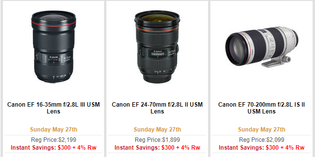 Canon lenses deal