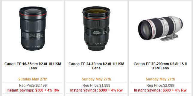 Canon lenses deal