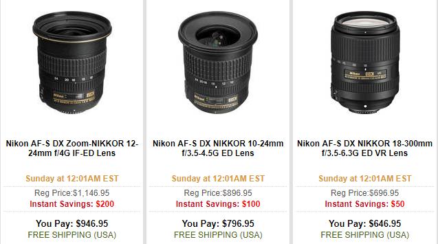 Nikon DX lens deal
