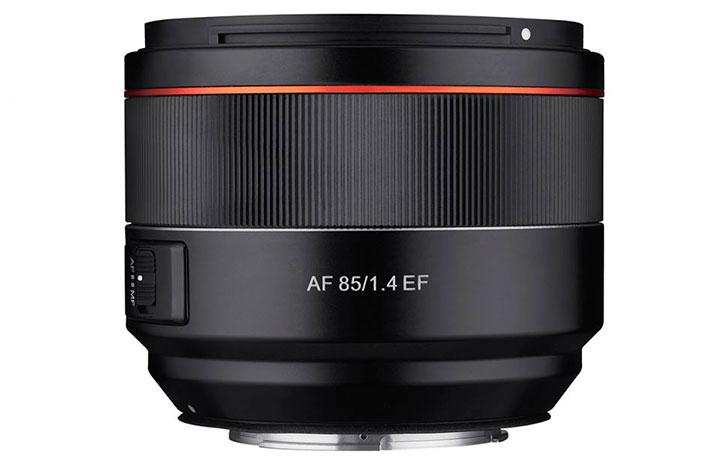 samyang AF 85mm F1.4 lens