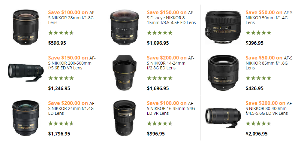 Nikon special lenses deals