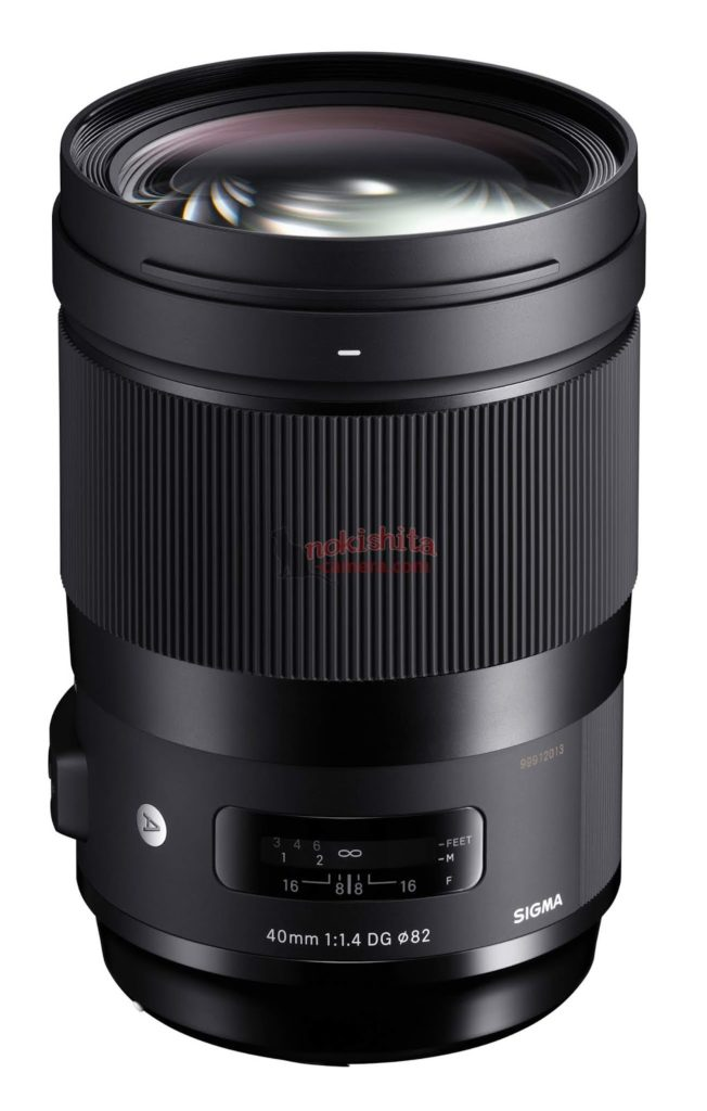 sigma 40mm F1.4 DG art